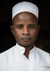 3 June 2019, Djohong, Cameroon: Amadou Adamou, a thirty-year-old refugee from Bocaranga in CAR runs a shop in the Borgop camp, where he sells rice, flour, biscuits, soap and sugar. With support from the Lutheran World Federation, he has managed to move away from taking credit from other merchants, into becoming an independent storeowner.<br /> The Borgop refugee camp is located in the municipality of Djohong, in the Mbere subdivision of the Adamaoua regional state in Cameroon. Supported by the Lutheran World Federation since 2015, the camp currently holds 12,300 refugees from the Central African Republic.