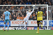 Wolverhampton Wanderers goalkeeper John Ruddy (21) saves a shot on goal from Burton Albion midfielder Jamie Allen (4) during the EFL Sky Bet Championship match between Burton Albion and Wolverhampton Wanderers at the Pirelli Stadium, Burton upon Trent, England on 30 September 2017. Photo by Richard Holmes.