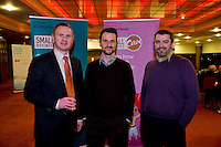 At the Ulster Bank Business Live event in the clayton Hotel Galway were, from right to left, Tadhg Colleran Ulster Bank with Kevin Newell and Stuart Howard both from prevos solutions . Galway business professionals and entrepreneurs attend an event focused on international and cross-border trading – providing knowledge and guidance on new opportunities for businesses that are looking to expand their current reach for their products or services. The event, which took place on 6th February, was part of Ulster Bank's 'Business Live' series, running in association with Smallbusinesscan.com. The Ulster Bank Business Live events will run until March 5th 2012, appearing in key towns and cities in the Republic of Ireland and Northern Ireland. Further information about the Business Live events is available from Ulster Bank branches or at www.smallbusinesscan.com. Photo:Andrew Downes photography..