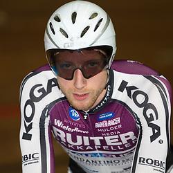 Jenning Huizenga reed de snelste tij op de achtervolging tijdens het NK Baanwielrennen in Apeldoorn