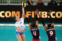 Iza Mlakar of Slovenia during the volleyball match between National team of Slovenia and Dominican Republic in Preliminary Round of Womens U23 World Championship 2017, on September 11, 2017 in SRC Stozice, Ljubljana, Slovenia. Photo by Morgan Kristan / Sportida