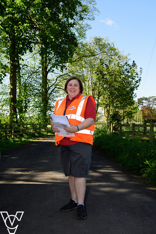 Royal Mail - Rugby mail processing unit.  Postwoman Marie Knapp, pictured, was commended by a customer recently when she found a pile of money in the street and returned it to her.<br /> <br /> Picture: Chris Vaughan Photography<br /> Date: May 5, 2017