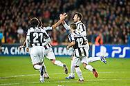 23.10.12. Copenhagen, Denmark. UEFA Champions League Group E, FC Nordsjaelland  1 vs Juventus 1 at the Parken Stadium. Mirko Vucinic of Juventus scores a goal  during the UEFA Champions League group stage match against Juventud. Photo: © Ricardo Ramirez.