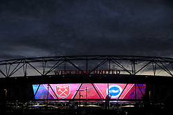 A general view of the stadium before the Premier League match at the London Stadium.