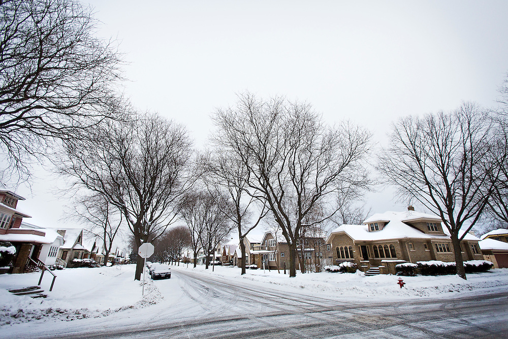 MILWAUKEE, WI – DECEMBER 16: A view down the 3200 block of N. 44th Street in Milwaukee on Friday, December 16, 2016, the street where Sylville Smith was shot by Milwaukee Police officer Dominique Heaggan-Brown on August 13.