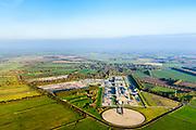 Nederland, Drenthe, Gemeente Noorderveld, 04-11-2018; Langelo, ondergrondse gasopslag van de Nederlandse Aardolie Maatschappij (NAM) op de gaslocatie Langelo. <br /> Langelo, underground gas storage of the Nederlandse Aardolie Maatschappij (NAM).<br /> <br /> luchtfoto (toeslag op standaard tarieven);<br /> aerial photo (additional fee required);<br /> copyright© foto/photo Siebe Swart