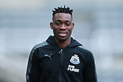 Christian Atsu (#30) of Newcastle United arrives ahead of the Premier League match between Newcastle United and Brighton and Hove Albion at St. James's Park, Newcastle, England on 30 December 2017. Photo by Craig Doyle.