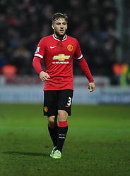 Manchester United's Luke Shaw  - Photo mandatory by-line: Joe meredith/JMP - Mobile: 07966 386802 - 04/01/2015 - SPORT - football - Yeovil - Huish Park - Yeovil Town v Manchester United - FA Cup - Third Round