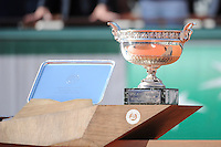 Illustration Trophee  - 07.06.2015 - Jour 15 - Finale  - Roland Garros 2015<br /> Photo : Nolwenn Le Gouic / Icon Sport
