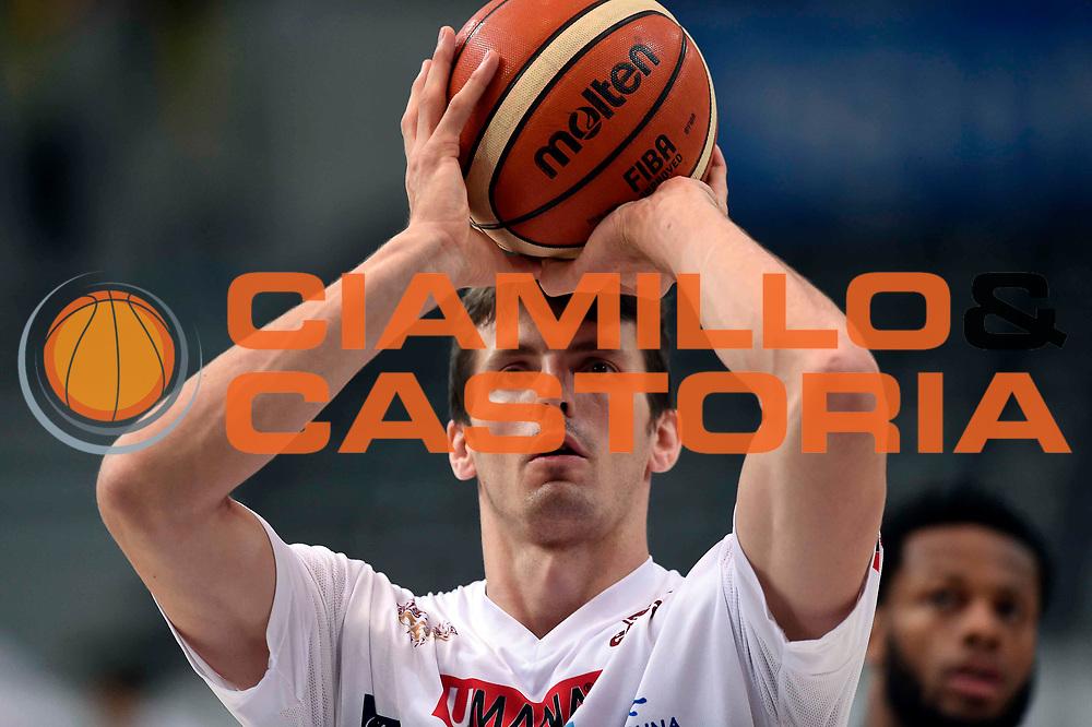 Benjamin Ortner<br /> Dolomiti Energia Aquila Basket Trento - Umana Reyer Venezia<br /> Lega Basket Serie A 2016/2017<br /> Playoff, finale gara 3<br /> Trento, 14/06/2017<br /> Foto Ciamillo-Castoria