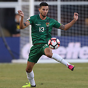 FOXBOROUGH, MASSACHUSETTS - JUNE 10: Alejandro Melean #13 of Bolivia in action during the Chile Vs Bolivia Group D match of the Copa America Centenario USA 2016 Tournament at Gillette Stadium on June 10, 2016 in Foxborough, Massachusetts. (Photo by Tim Clayton/Corbis via Getty Images)