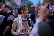 Frankfurt am Main | 28 Apr 2014<br /> <br /> Am Montag (28.04.2014) veranstalteten etwa 200 Menschen an der Hauptwache in Frankfurt am Main sogenannte Montagsdemos gegen Hartz IV und die Agenda 2010 und dann sp&auml;ter f&uuml;r den Frieden, gegen den Krieg etc., am zweiten Teil der Montagsdemo nahmen AfD-Aktivisten und die Neonazi-Aktivistin Sigrid Sch&uuml;&szlig;ler (NPD, RNF/Ring Nationaler Frauen) teil.<br /> Hier: Neonazi-Aktivistin Sigrid Sch&uuml;&szlig;ler (NPD, RNF/Ring Nationaler Frauen).<br /> <br /> &copy;peter-juelich.com<br /> <br /> [No Model Release | No Property Release]