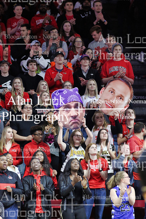NORMAL, IL - February 02: Red Alert Redbird fans during a college basketball game between the ISU Redbirds and the University of Loyola Chicago Ramblers on February 02 2019 at Redbird Arena in Normal, IL. (Photo by Alan Look)