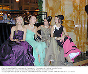 Clara Armand-Delille, Laurence de Dampierre,  Constance de Catheu, Ines de Seroux. Debutantes at the Crillon Hotel Debutante Ball. 28 November 1999<br />