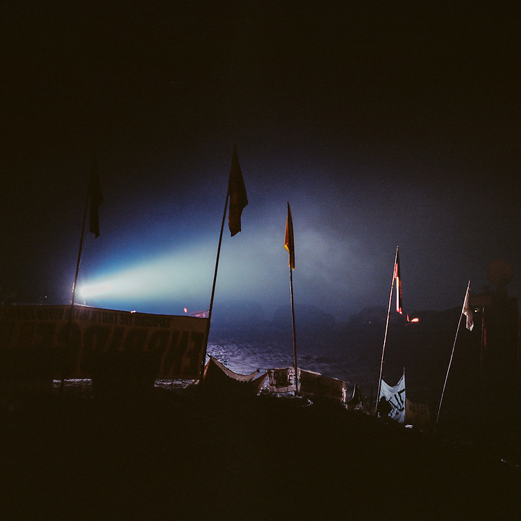 OCETI SAKOWIN CAMP, CANNON BALL, NORTH DAKOTA - DECEMBER 5, 2016: Oceti Sakowin Camp.