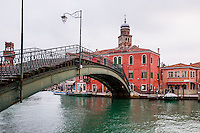 Italy, Murano. Canal.