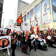 Anti Olympic protesters on the opening day of the 2010 Vancouver Olympic games.  February 12th, 2010....