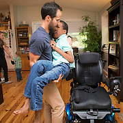 Because of the Cerebral Palsy, Donald is unable to get around the house without use of his specialized wheelchair. For Novant Health