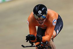 March 1, 2019 - Pruszkow, Poland - Sam Ligtlee (NED) 1km Time Trial on day three of the UCI Track Cycling World Championships held in the BGZ BNP Paribas Velodrome Arena on March 01, 2019 in Pruszkow, Poland. (Credit Image: © Foto Olimpik/NurPhoto via ZUMA Press)