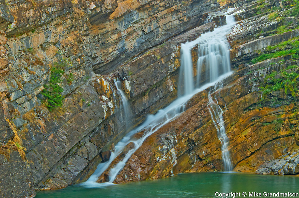Detail of Cameron Creek at Cameron Falls, Waterton Lakes  National Park, Alberta, Canada