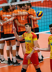 09-06-2019 NED: Golden League Netherlands - Spain, Koog aan de Zaan<br /> Fourth match poule B - The Dutch beat Spain again in five sets in the European Golden League / Angel Trinidad De Haro #2 of Spain