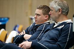 20180218 NED: Bekerfinale SV Land Taurus - Abiant Lycurgus, Hoogeveen <br />Arjan Taaij, headcoach of Abiant Lycurgus, Gerard Smit, assistant coach of Abiant Lycurgus <br />&copy;2018-FotoHoogendoorn.nl