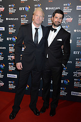 Pictured are Iwan Thomas and  Craig Doyle.<br /> <br /> BT Sport Industry Awards 2014 at Battersea Evolution, London, UK.<br /> <br /> Thursday, 8th May 2014. Picture by Ben Stevens / i-Images