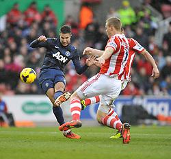 Manchester United's Robin van Persie scores. - Photo mandatory by-line: Alex James/JMP - Tel: Mobile: 07966 386802 01/02/2014 - SPORT - FOOTBALL - Britannia Stadium - Stoke-On-Trent - Stoke v Manchester United - Barclays Premier League