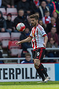 Sunderland's Striker Fabio Borini (9) in action during the Barclays Premier League match between Sunderland and Arsenal at the Stadium Of Light, Sunderland, England on 24 April 2016. Photo by George Ledger.