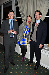 Left to right, TOM NAYLOR, ADELAIDE DUGDALE and GEORGE MEYRICK at a dinner in aid of the charity Save The Rhino held at ZSL London Zoo, Regents Park, London NW1 on 16th November 2011.