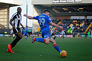 Stevenage forward Danny Newton (19) clears during the EFL Sky Bet League 2 match between Notts County and Stevenage at Meadow Lane, Nottingham, England on 24 February 2018. Picture by Nigel Cole.
