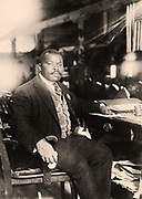 Marcus Mosiah Garvey Jr. (1887-1940) Jamaican-born Pan-Africanist publisher, journalist and orator.  Founder in 1914 of the Universal Negro Improvement Association aimed at uniting Africa and its diaspora.