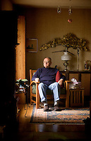 Jay Chapman, a retired medical pathologist, sits in his living room of his Santa Rosa home, in California., on Friday, Oct. 29, 2010. Mr. Chapman, who supported the death penalty and was then the chief medical examiner in Oklahoma,  recalls when the lethal injection was signed into law in the state of Oklahoma in 1977. The cocktail basically involves uses an overdose of an anesthetic..