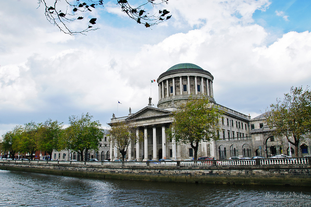 The Four Courts Building, in Dublin, Ireland is home to the Irish Supreme Court, High, Circuit & District Courts.