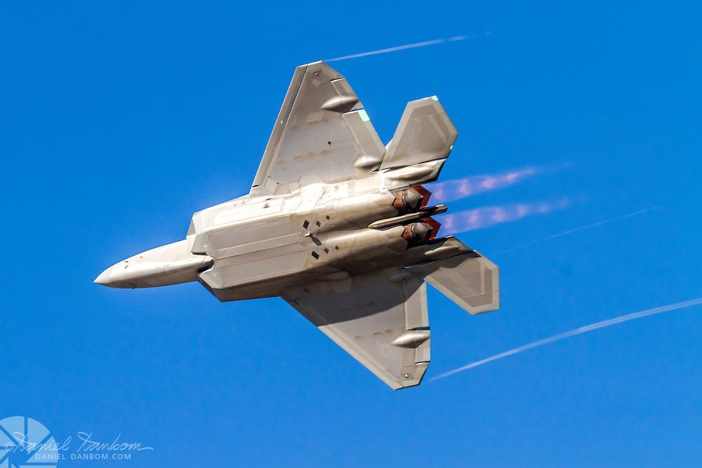 F-22 Raptor in afterburner turn, MRY, Monterey, California