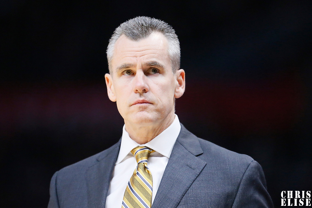 21 December 2015: Oklahoma City Thunder head coach Billy Donovan is seen during the Oklahoma City Thunder 100-99 victory over the Los Angeles Clippers, at the Staples Center, Los Angeles, California, USA.