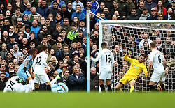 Gabriel Jesus of Manchester City scores his sides first goal - Mandatory by-line: Matt McNulty/JMP - 05/02/2017 - FOOTBALL - Etihad Stadium - Manchester, England - Manchester City v Swansea City - Premier League