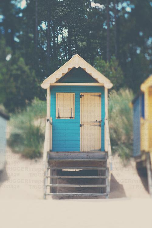 a traditional english beach hut