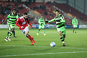 Forest Green Rovers Fabien Robert(26) runs forward during the Vanarama National League match between Wrexham FC and Forest Green Rovers at the Racecourse Ground, Wrexham, United Kingdom on 26 November 2016. Photo by Shane Healey.