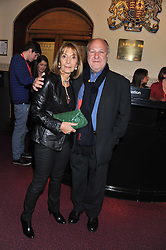 HARVEY & DIANA GOLDSMITH attend the premier of 2012 Cirque du Soleil's Totem at the Royal Albert Hall, London on 5th January 2012,