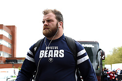 Lewis Thiede and the rest of the Bristol Bears team arrive at Welford Road - Mandatory byline: Patrick Khachfe/JMP - 07966 386802 - 27/04/2019 - RUGBY UNION - Welford Road - Leicester, England - Leicester Tigers v Bristol Bears - Gallagher Premiership Rugby