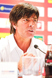 03.06.2011, Ernst Happel Stadion, Wien, AUT, UEFA EURO 2012, Qualifikation, Oesterreich (AUT) vs Deutschland (GER), im Bild Joachim Loew (GER, Headcoach) bei der Pressekonferenz // during the UEFA Euro 2012 Qualifier Game, Austria vs Germany, at Ernst Happel Stadium, Vienna, 2010-06-03, EXPA Pictures © 2011, PhotoCredit: EXPA/ E. Scheriau