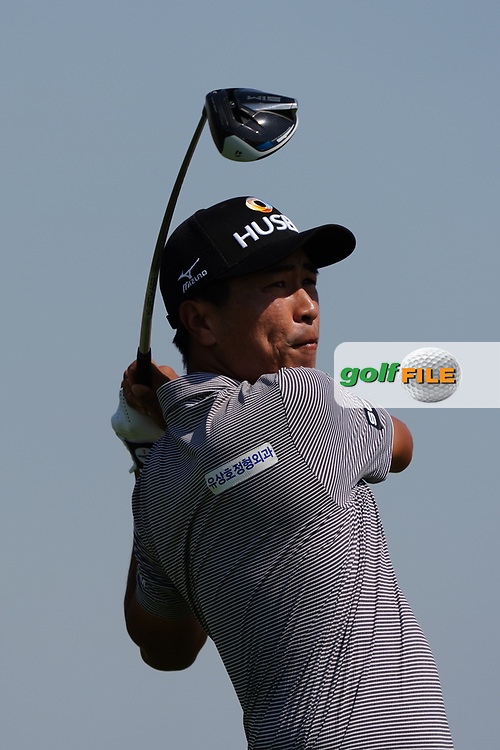 Kyongjun Moon (KOR) on the 3rd during Round 2 of the Commercial Bank Qatar Masters 2020 at the Education City Golf Club, Doha, Qatar . 06/03/2020<br /> Picture: Golffile | Thos Caffrey<br /> <br /> <br /> All photo usage must carry mandatory copyright credit (© Golffile | Thos Caffrey)
