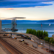 Waterfront industry in Tacoma, WA