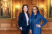 Museum Director Emilie Gordenker and Paintings Conservator Abbie Vandivere at the Mauritshuis museum in The Hague, the Netherlands on February 15, 2018.<br /> Photo: Michel de Groot
