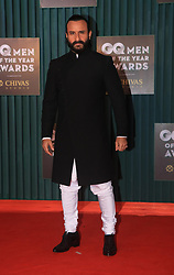 September 27, 2018 - Mumbai, India - Actor Saif Ali Khan poses on the red carpet of 10th edition of the GQ Men of the Year Awards to commemorate GQ's 10th anniversary in India at hotel JW Marriott Juhu in Mumbai, India. (Credit Image: © Azhar Khan/SOPA Images via ZUMA Wire)