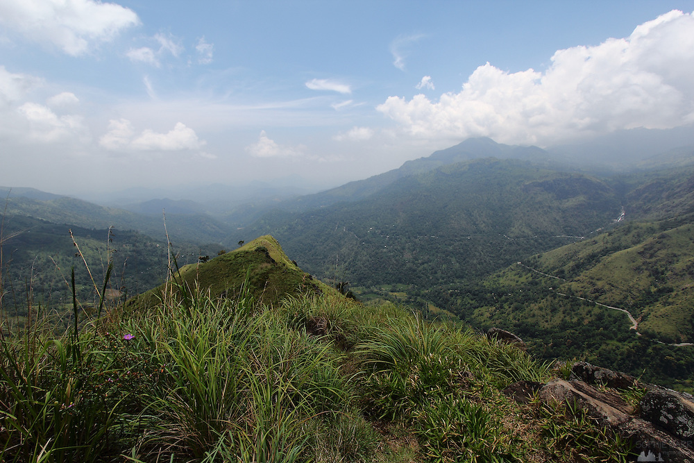 The view from Little Adam's Peak, above the hill country village of Ella, in central Sri Lanka