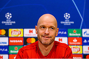 Ajax Manager Erik ten Hag during the Ajax press conference ahead of the Champions League semi-final 2nd leg, at Johan Cruijff Arena, Amsterdam, Netherlands on 7 May 2019.