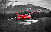 As if climbing into the past...a classic Alpine Aviation DHC-2 Beaver climbs into the Yukon skies from Schwatka Lake