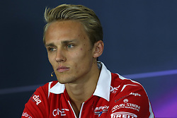 03.07.2014, Silverstone Circuit, Silverstone, ENG, FIA, Formel 1, Grand Prix von Grossbritannien, Vorberichte, im Bild Max Chilton (GBR) Marussia F1 Team. in the Press Conference // during the preperation of British Formula One Grand Prix at the Silverstone Circuit in Silverstone, Great Britain on 2014/07/03. EXPA Pictures © 2014, PhotoCredit: EXPA/ Sutton Images/ Davenport<br /> <br /> *****ATTENTION - for AUT, SLO, CRO, SRB, BIH, MAZ only*****